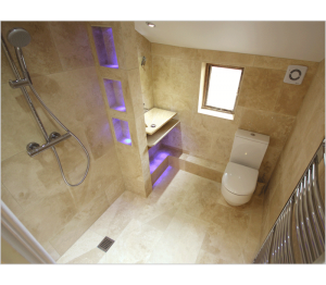 Wet floors make smaller rooms feel much larger - this shower room has been completely transformed with the removal of the old shower enclosure.
