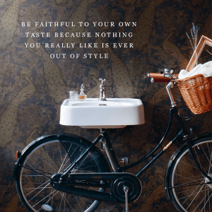 bike with quote