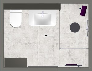 Master en suite design 5 orthographic view