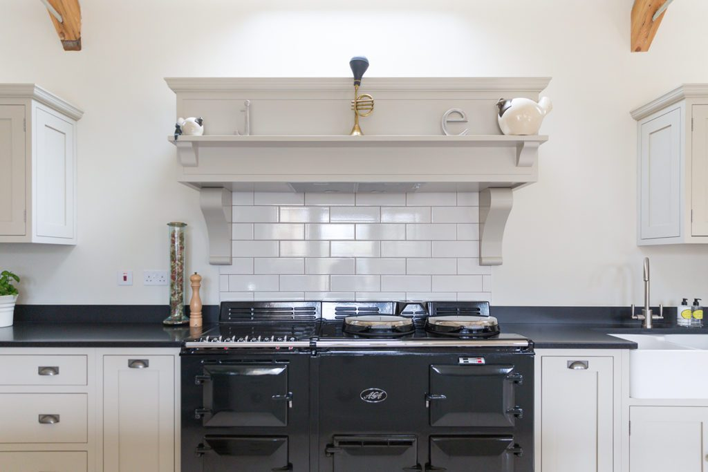5 - A beautiful Aga range cooker in black