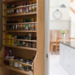 8 - A close up of our solid oak spice racks