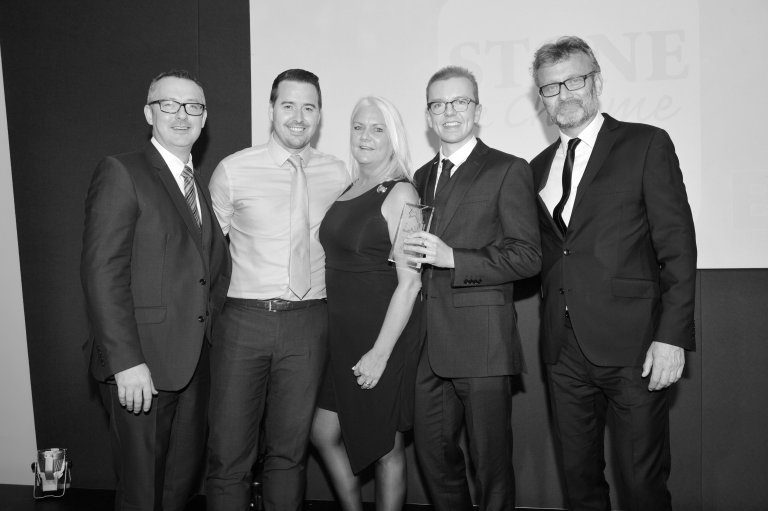 Shane collecting the BKU Award for Omnichannel Retailer of the Year 2018