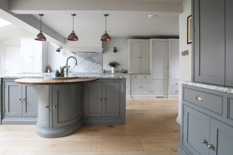 Beautiful grey in-frame shaker style kitchen