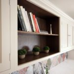 22. Open shelving in our smoked oak finish.