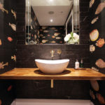3. We created a bespoke recessed mirror with mirrored sides. Quirky and fun for this groundfloor cloakroom.