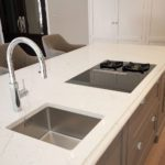 7. The client wanted a Franke prep sink on the island next to the Bora hob.