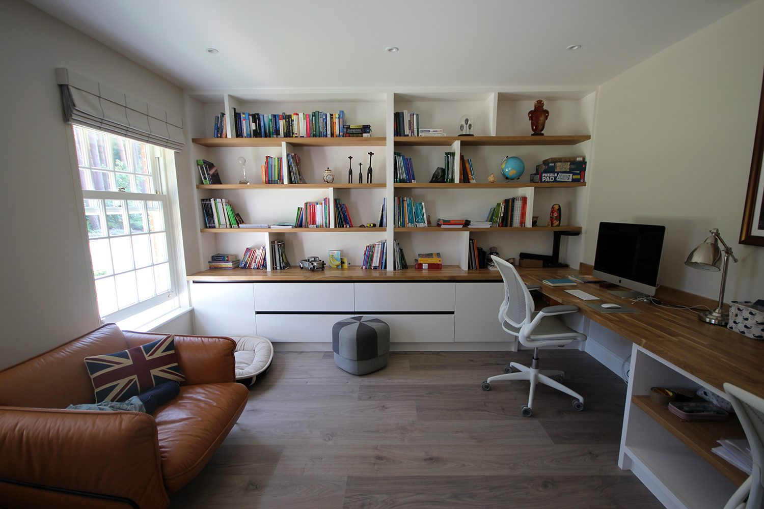Relaxing home office design from Stone and Chrome