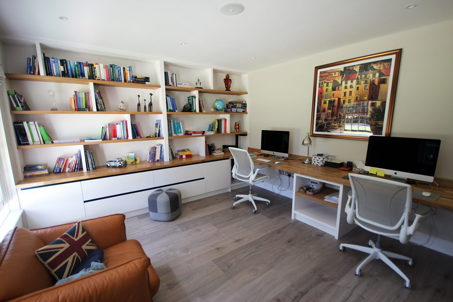 Creative home office shelving from Stone and Chrome