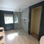 8. Generous sized walk in wet floor shower. Wet floor systems from Impey.
