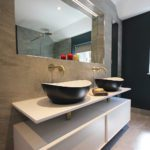 9. A closer look at the his and hers basin area.