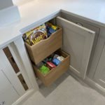 13. Hidden solid oak storage drawers - made to measure.