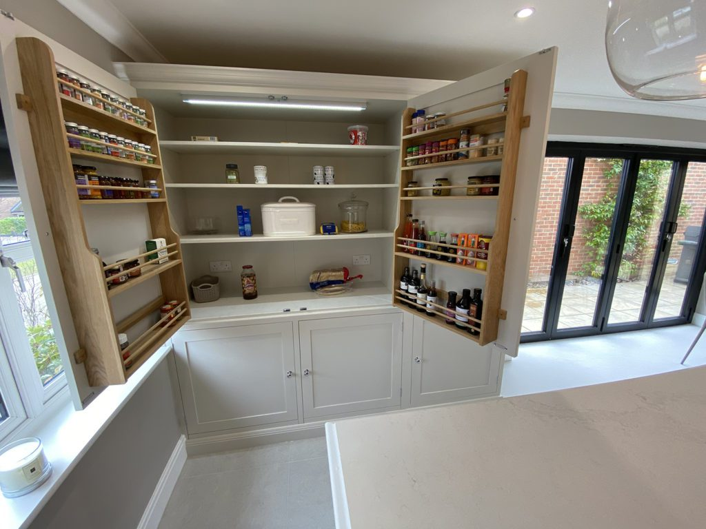 6. A huge pantry with spice racks.