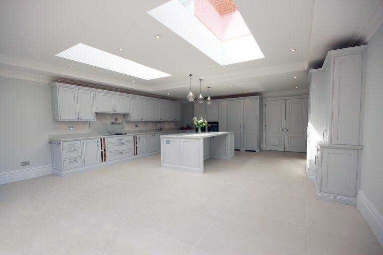 A stunning installation on our East Molesey project painted in Farrow & Ball Dimpse.