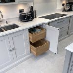 Our hidden solid oak storage drawers are a popular choice.